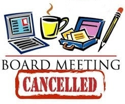 September 14th Board Meeting Cancelled
