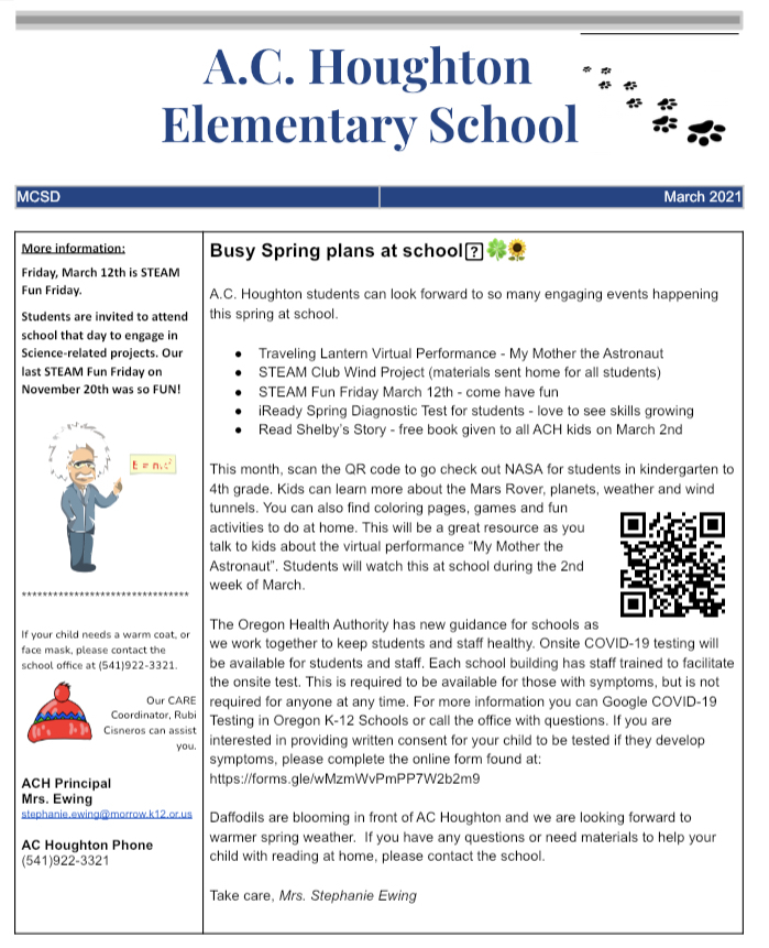Spring Events - check out the March newsletter