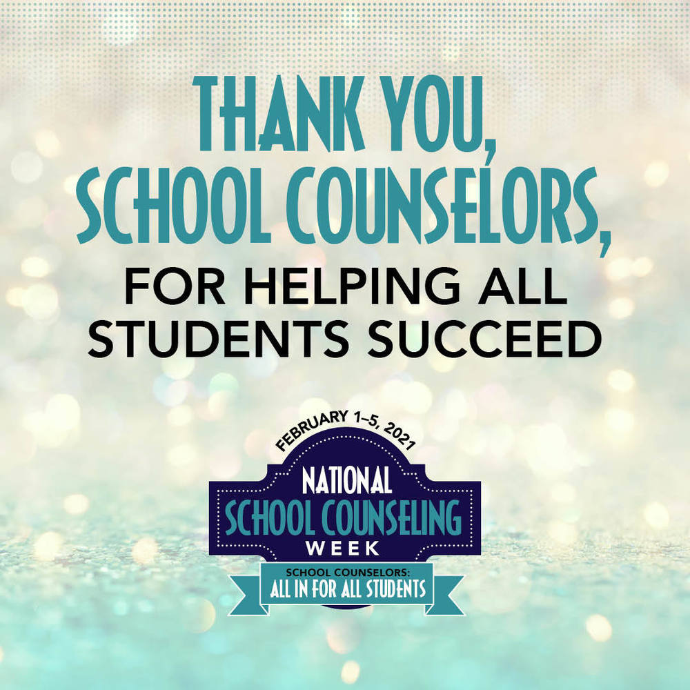 We Celebrate Our School Counselors!